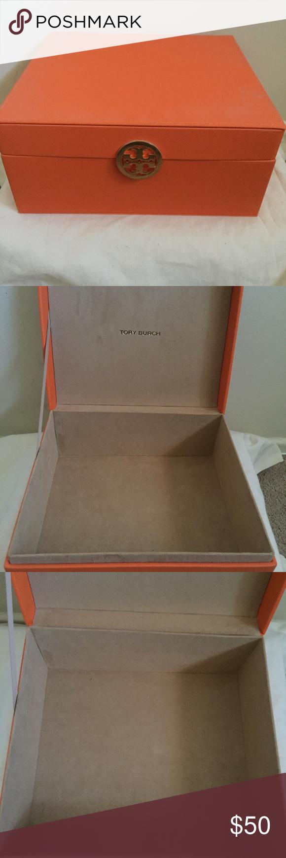 SOLD Tory Burch Makeup Cosmetic Storage Jewelry Bx Jewelry box