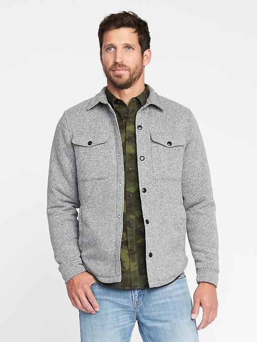 0b5cc13897997 Old Navy Sweater-Fleece Shirt Jacket for Men | Products | Shirts ...