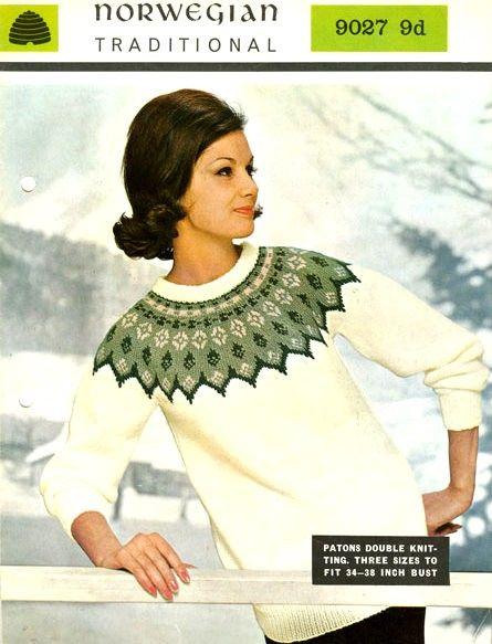 PDF Knitting Pattern for Norwegian/Scandanavian Bridal Yoked ...
