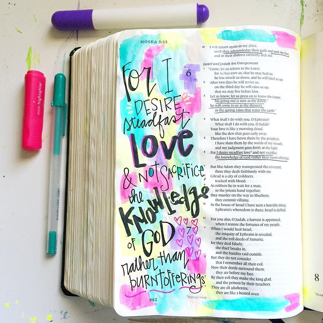 Bible Journaling by @muchloveilly