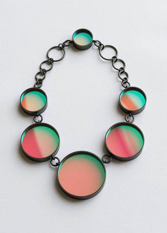 Glas statement necklace by Jiro Kamata
