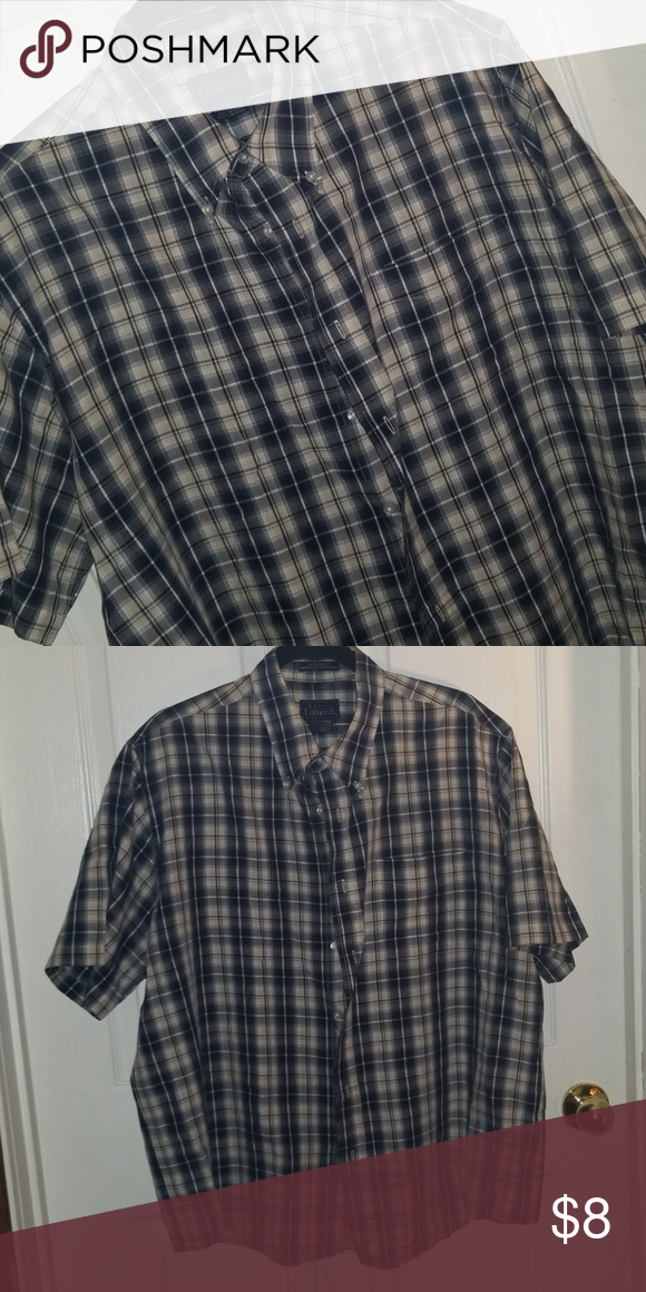 8e5c65a9815e Casual Shirts · Button Downs · Basic edition mens short sleeve Wrinkle  resistant in excellent condition size Large has one pocket Basic