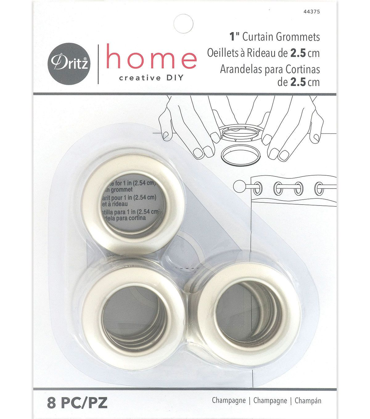 Prym Dritz Home Curtain Grommets 1 White Home Curtains