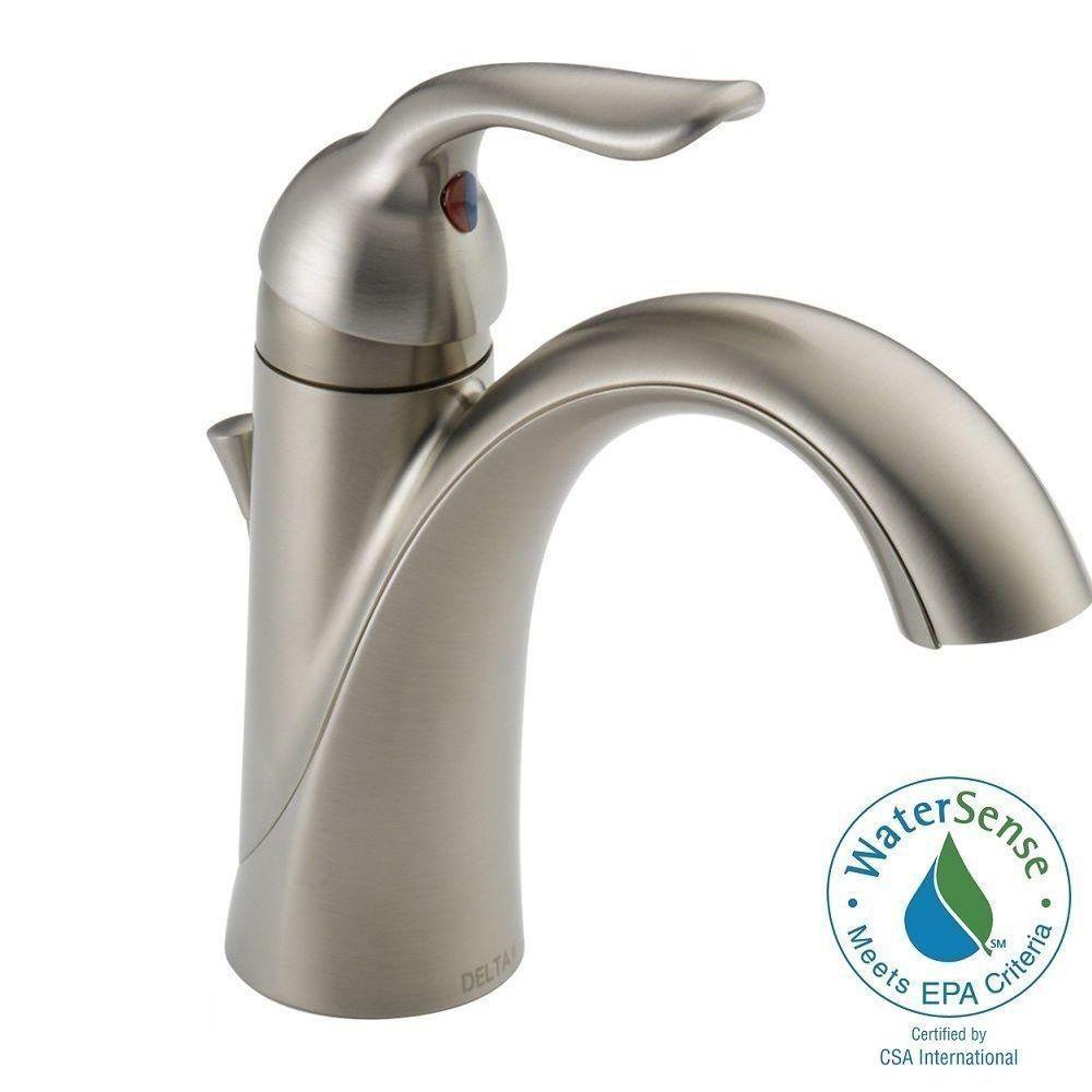 Delta Lahara Single Hole SingleHandle Bathroom Faucet With Metal - Delta linden bathroom faucet for bathroom decor ideas