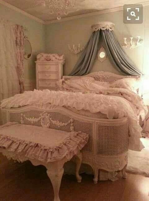 Romantische Schlafzimmer, Gardinen, Besser Schlafen, Decken, Dekorieren,  Kissen, Kinderzimmer, Dekoration, Shabby Chic Schlafzimmer