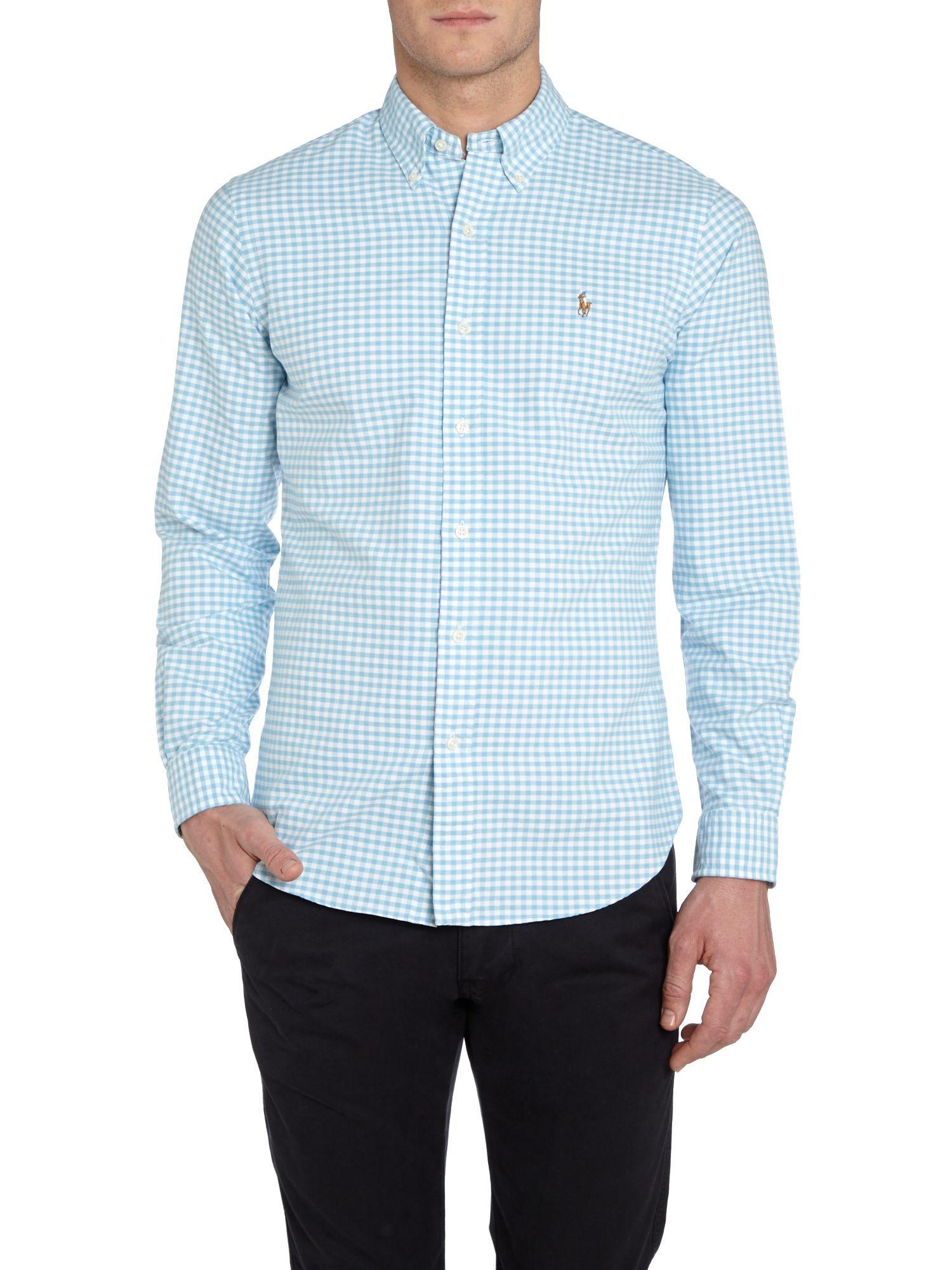 Polo Ralph Lauren Classic Slim Fit Long Sleeve Gingham Shirt