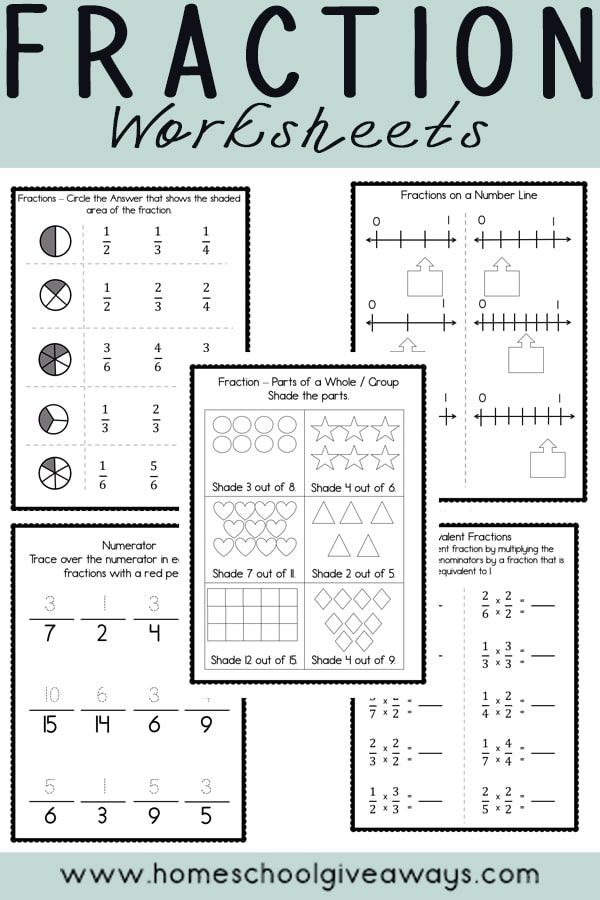 Free Fraction Printables Homeschool Giveaways Homeschool Elementary Elementary Worksheets Free Fraction Worksheets