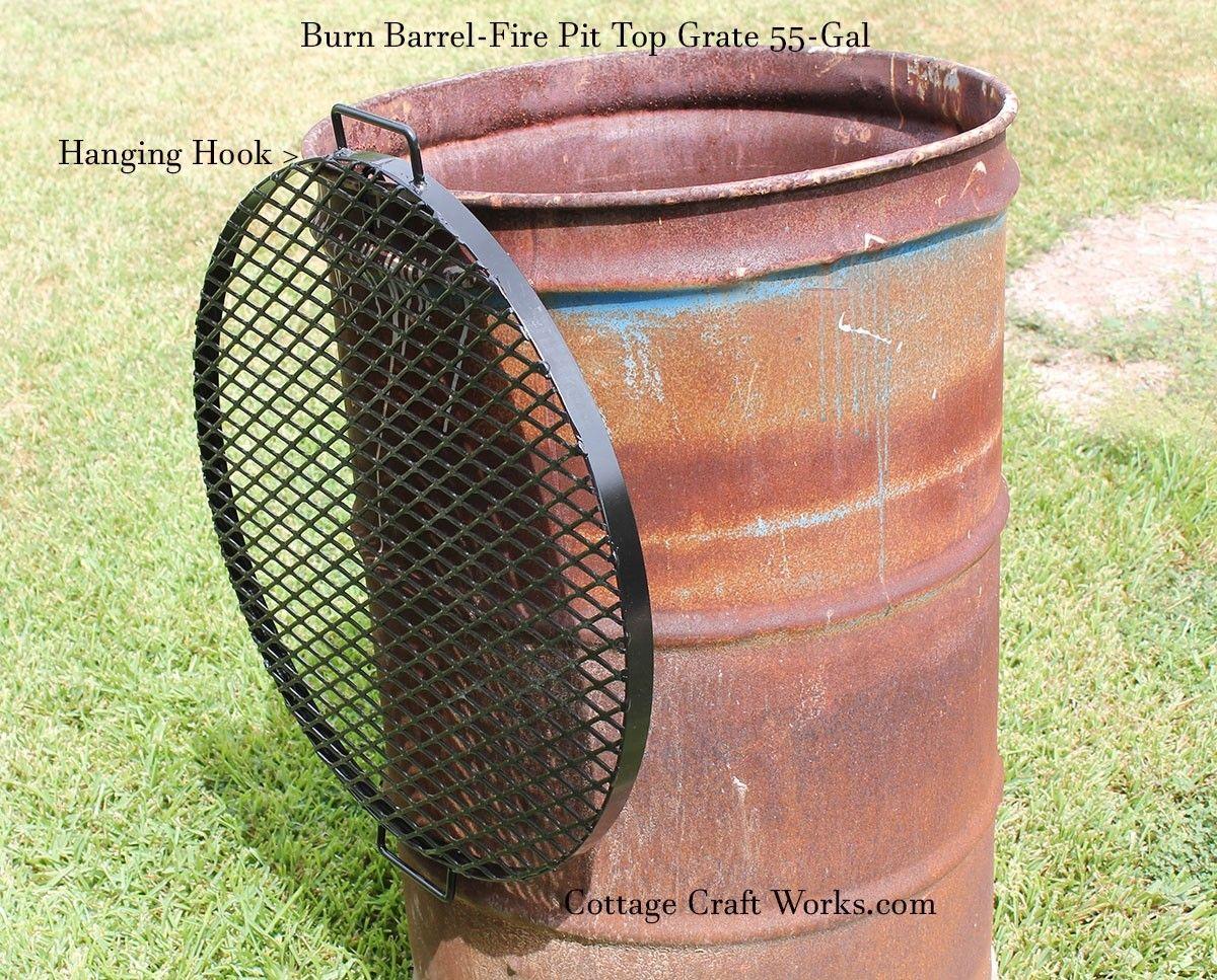 how to make a burn barrel lid
