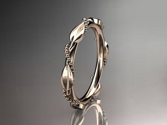 14k  rose  gold   wedding ringengagement by anjaysdesigns on Etsy, $365.00