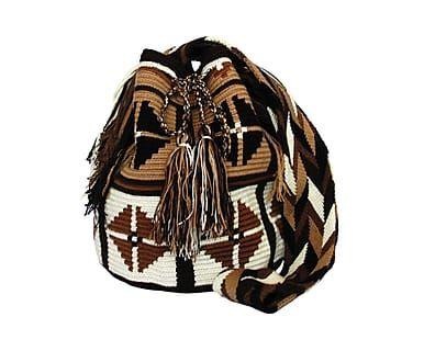 Bolso Wayuu tejido a mano de algodón y fibra Claire