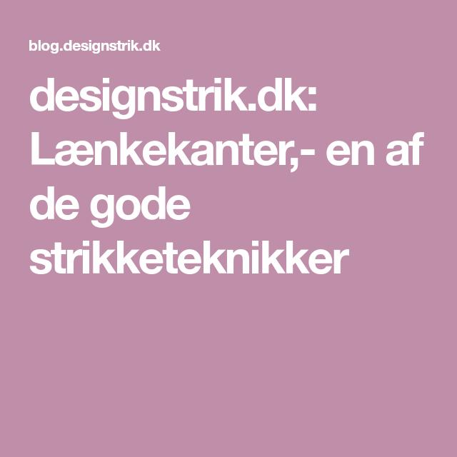 Photo of designstrik.dk: Lænkekanter,- en af de gode strikketeknikker