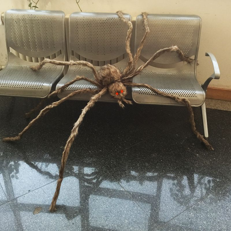 Giant Hairy Spider with LED Eyes for Halloween Decoration Festive - spiders for halloween decorations