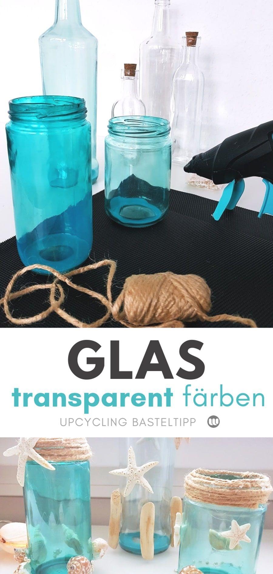 Glas & Flaschen färben mit Lebensmittelfarbe: So geht´s