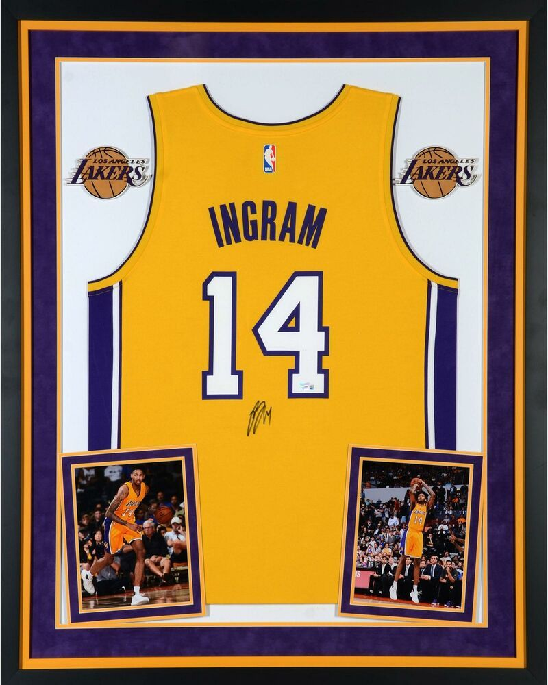 5e50587a9ed5 Brandon Ingram Lakers Dlx Framed Autographed Gold Fanatics Rep Jersey -  Fanatics  sportsmemorabilia  autograph  basketballjersey
