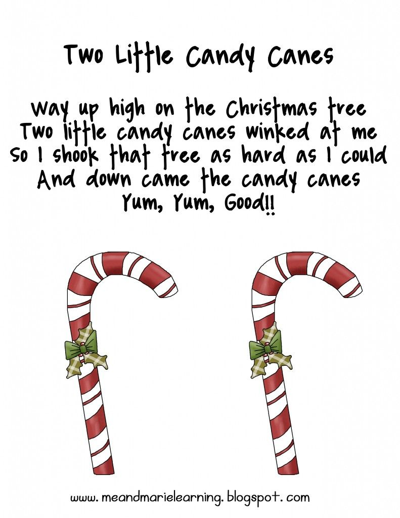 Christmas Candy Cane Poems for Preschool | New Christmas songs ...