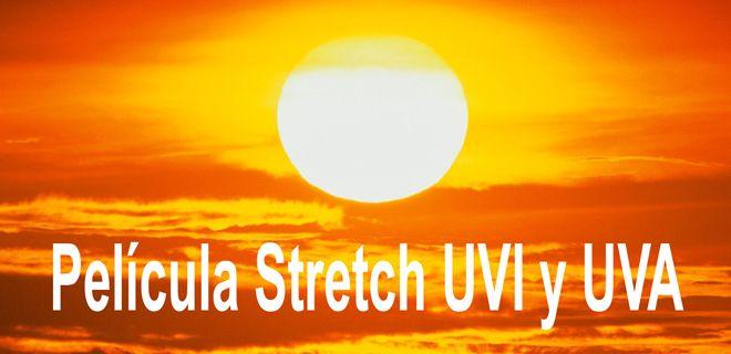 Película Stretch UVI y UVA.  En el mundo de los plásticos existen muchos aditivos para muy diversas aplicaciones y necesidades. Muchos de estos aditivos se pueden usar para la fabricación de película stretch para darle propiedades muy particulares.  Existen dos aditivos muy especiales que nos pueden ayudar en determinadas situaciones: Aditivo UVI y Aditivo UVA.