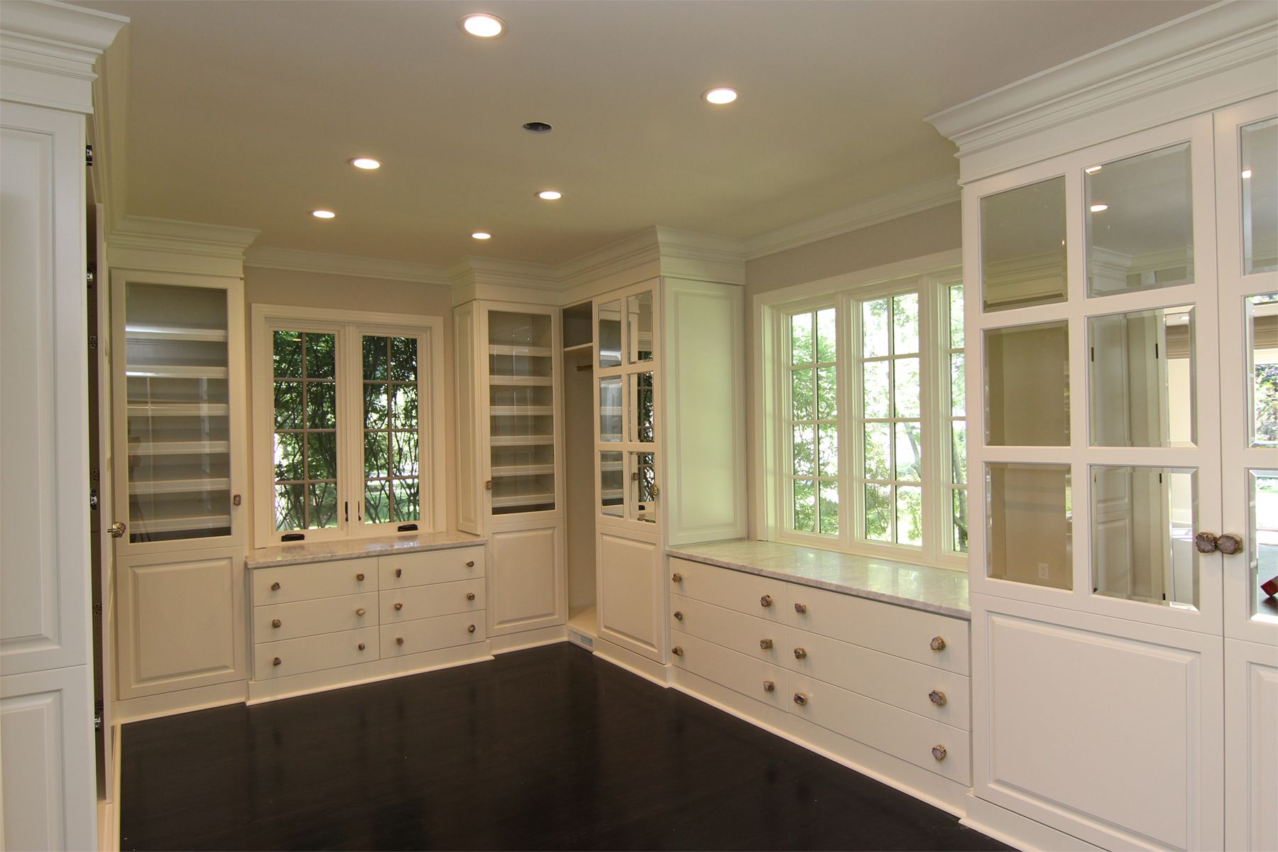 A Spacious Glossy/brushed White Melamine Walk In Closet By Closet Factory    Pittsburgh
