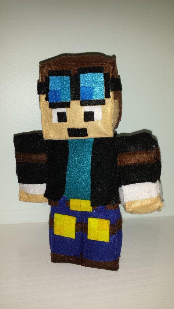 d48aadb2daed DanTDM 1 foot Plush Mine mining pixel Craft Character Skindoll ...