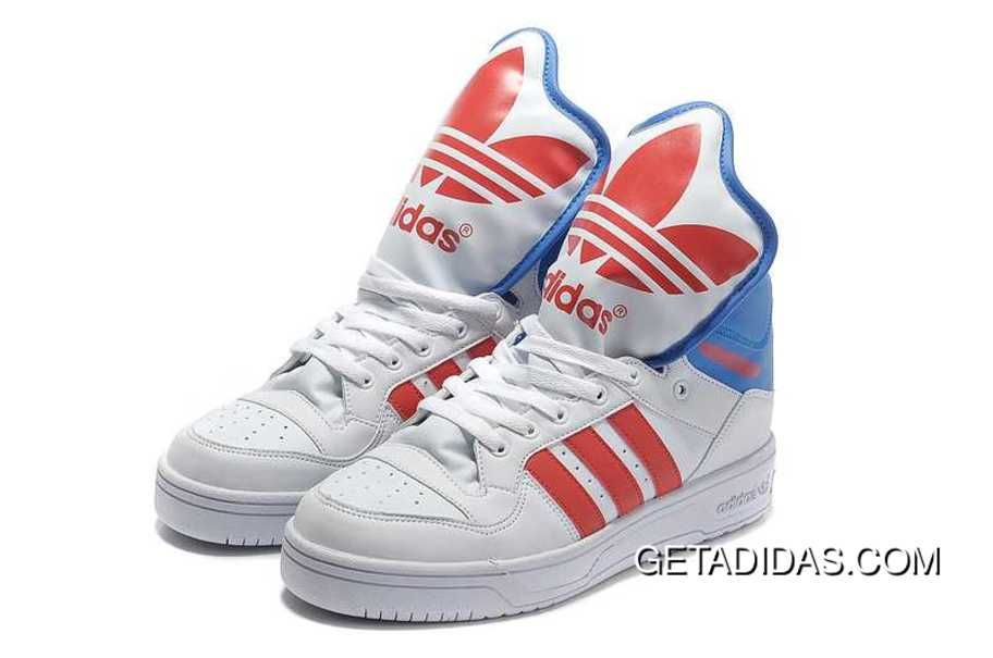 watch 835c0 b82a3 Club UK Metro Attitude Hi Large Tongue White Red Blu Lifestyle Adidas  Jeremy Scott Best Choice TopDeals, Price   101.61 - Adidas Shoes,Adidas  Nmd,Superstar, ...