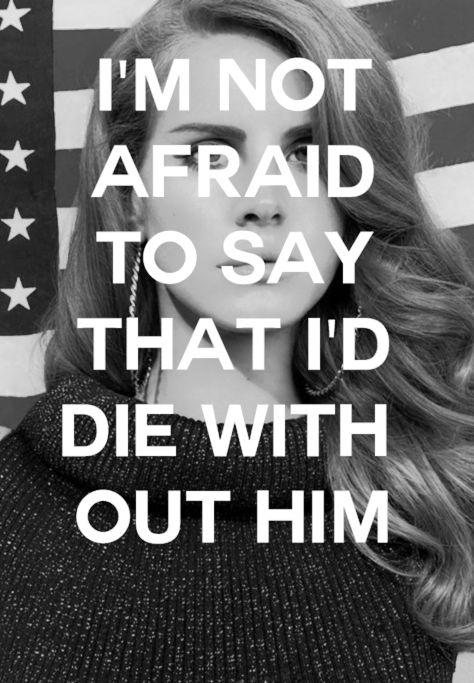 Im not afraid...
