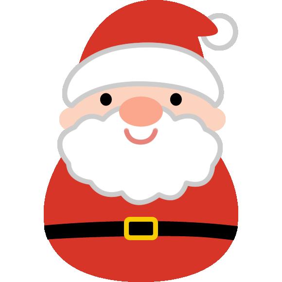 丸いフォルムが可愛いサンタクロースのイラスト クリスマス イラスト かわいい サンタクロース かわいい サンタクロース イラスト