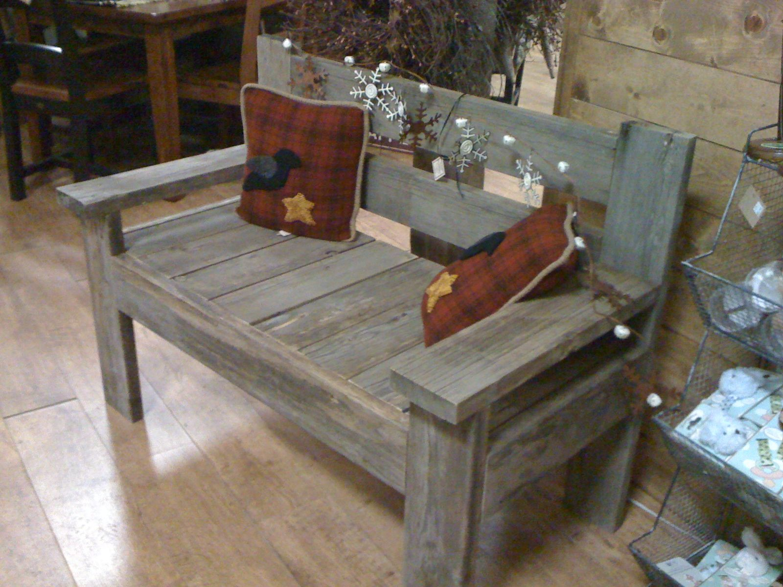 Images about old barn wood furniture on pinterest - Barnwood Bench