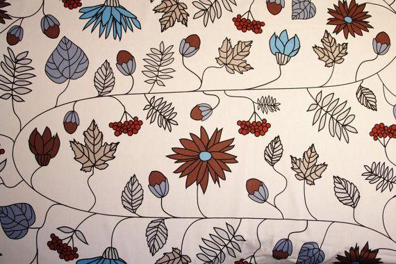 Leaf Print Fabric Scandinavian Fabric Upholstery Fabric Etsy Scandinavian Fabric Upholstery Fabric Fabric Sofa Cover
