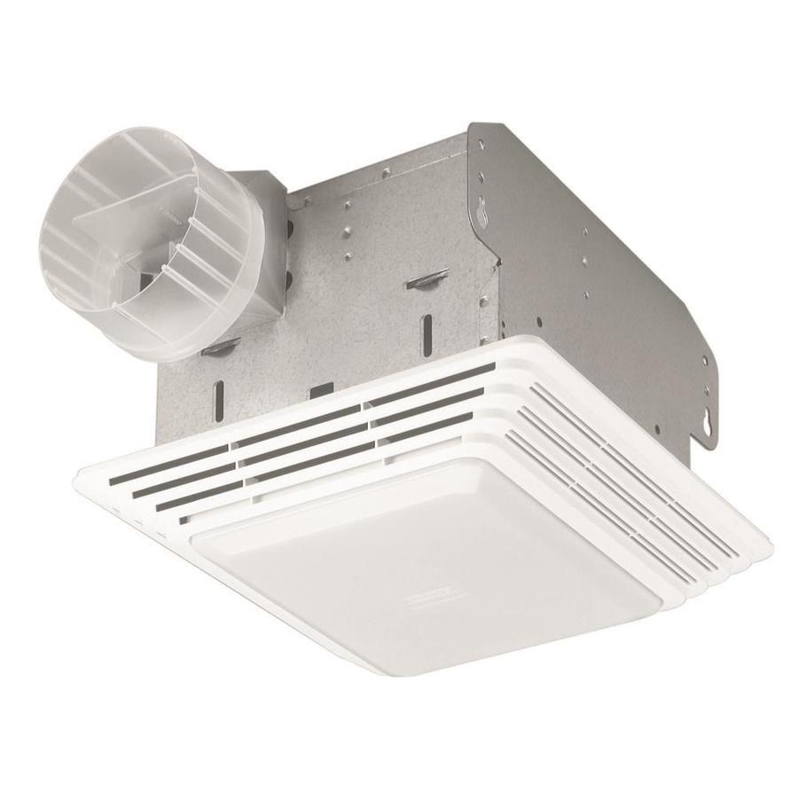 Broan 2 5 Sone 50 Cfm White Bathroom Fan Lowes Com Bathroom Fan Light Bathroom Ventilation Fan Bathroom Exhaust Fan
