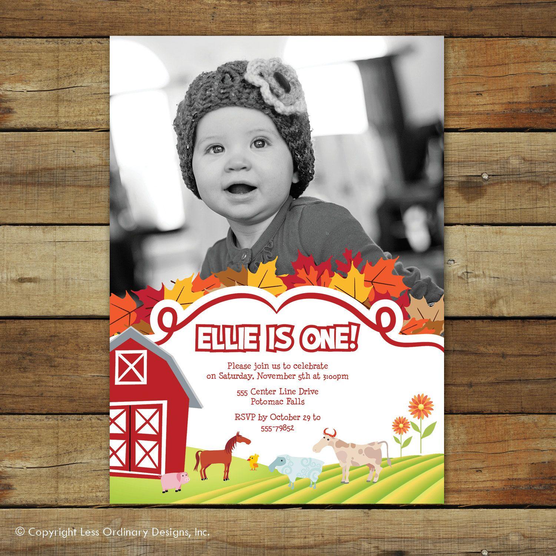 Barn yard birthday invitation, farm birthday party invitation, farm ...