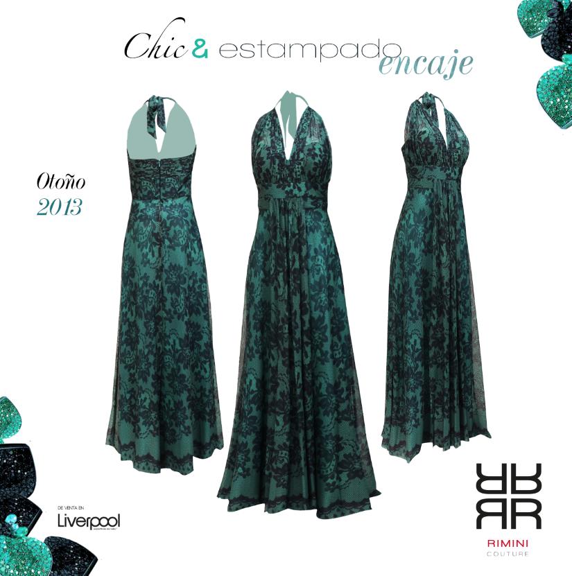 Tek73c9a03 Vestido Rimini Couture Verde De Noche En