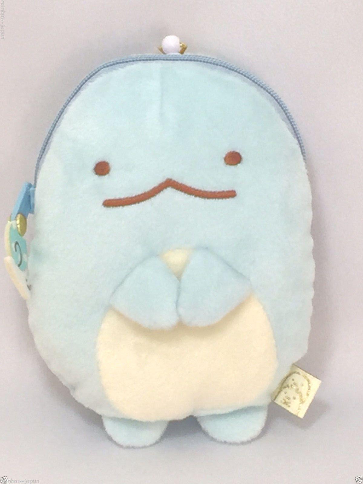 san x sumikko gurashi plush doll retractable reel pass card coin