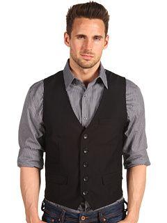 - The Gordon Vest in dark grey suiting Size M