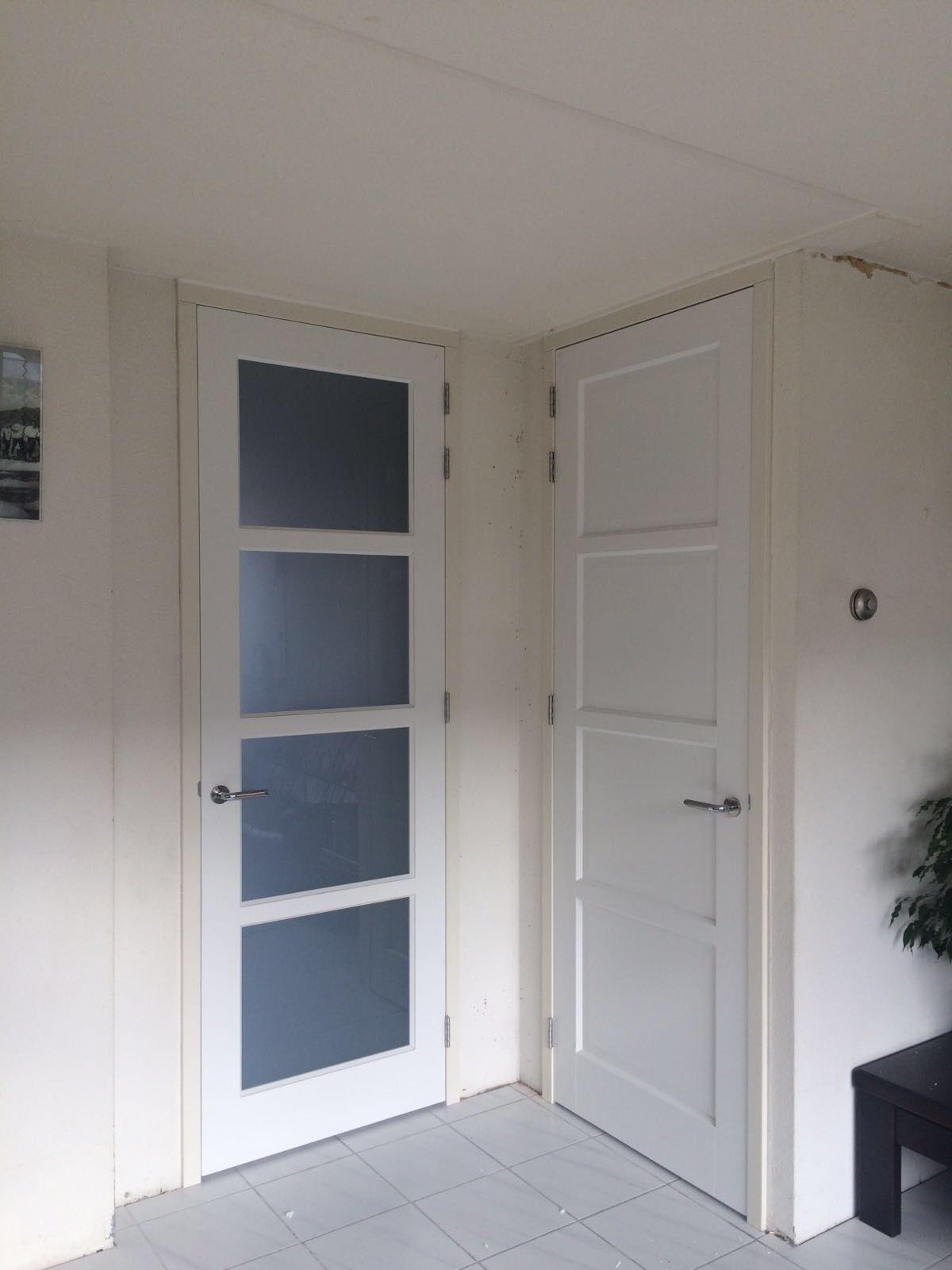 Goede Stompe, #moderne, #strakke #binnendeuren in een #houten kozijn XI-86