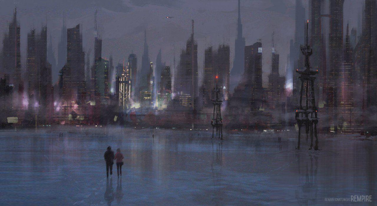 Through Time Roman Ignatowski Future City Landscape City