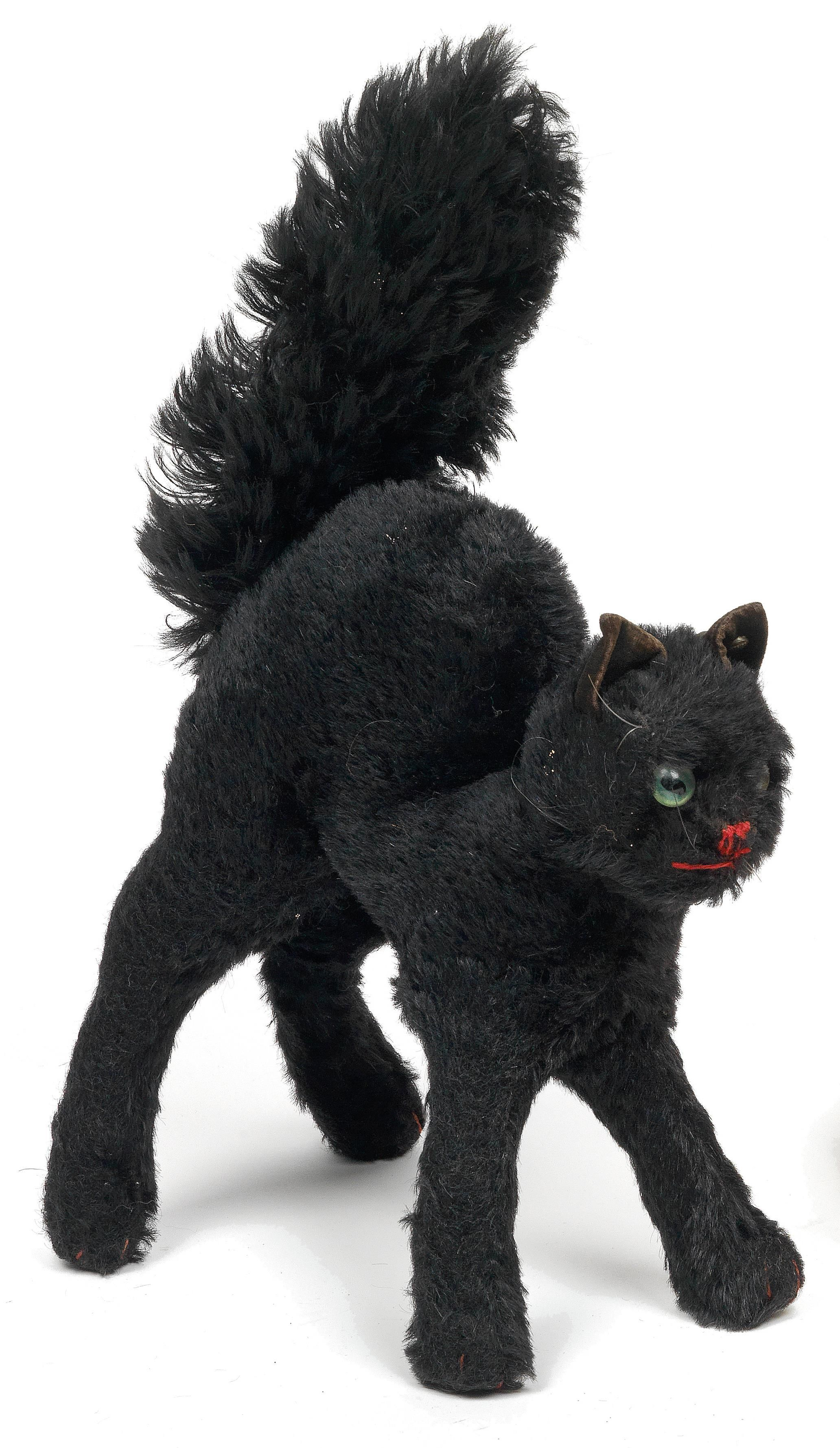 Vintage Black Cat Plush From Steiff Antique Early Toy S