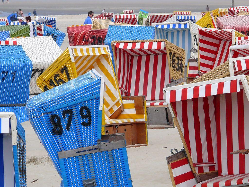 Alemania Germany Deutschland Northsea chairs beach Langeoog |