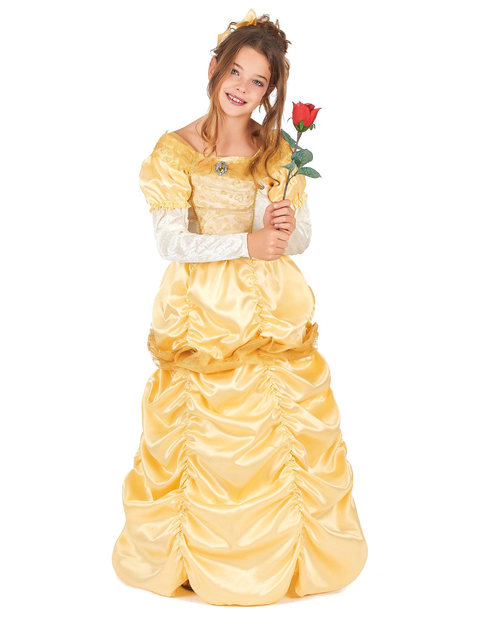 283e76097294 Costume da bella principessa in giallo per bambina E decine e decine di  costumi da principesse