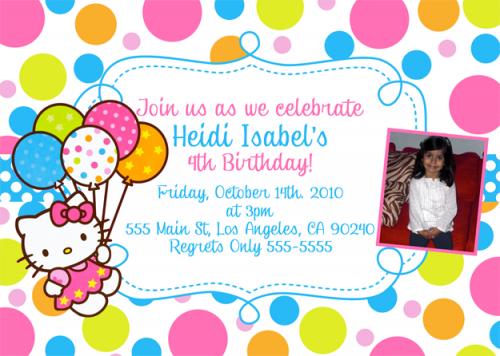Hello Kitty Invitation – Hello Kitty Birthday Party Invitations Printable