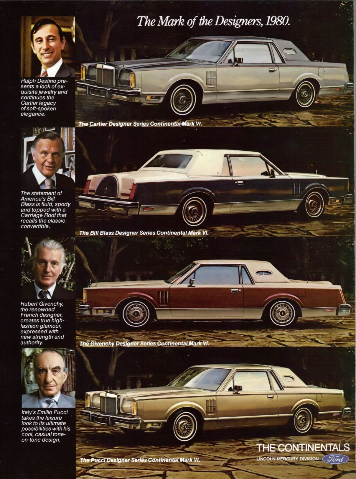the 1980 redesigned lincoln mark series was offered again in four special designer trim levels. Black Bedroom Furniture Sets. Home Design Ideas