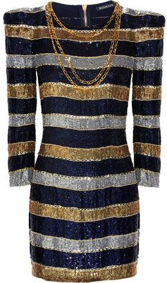 7c4457b947b8 ShopStyle: Balmain Striped sequin dress | Sparkly | Pinterest ...