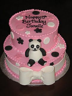 Pink Panda Cake Want It For My Bday Mom Panda Cakes