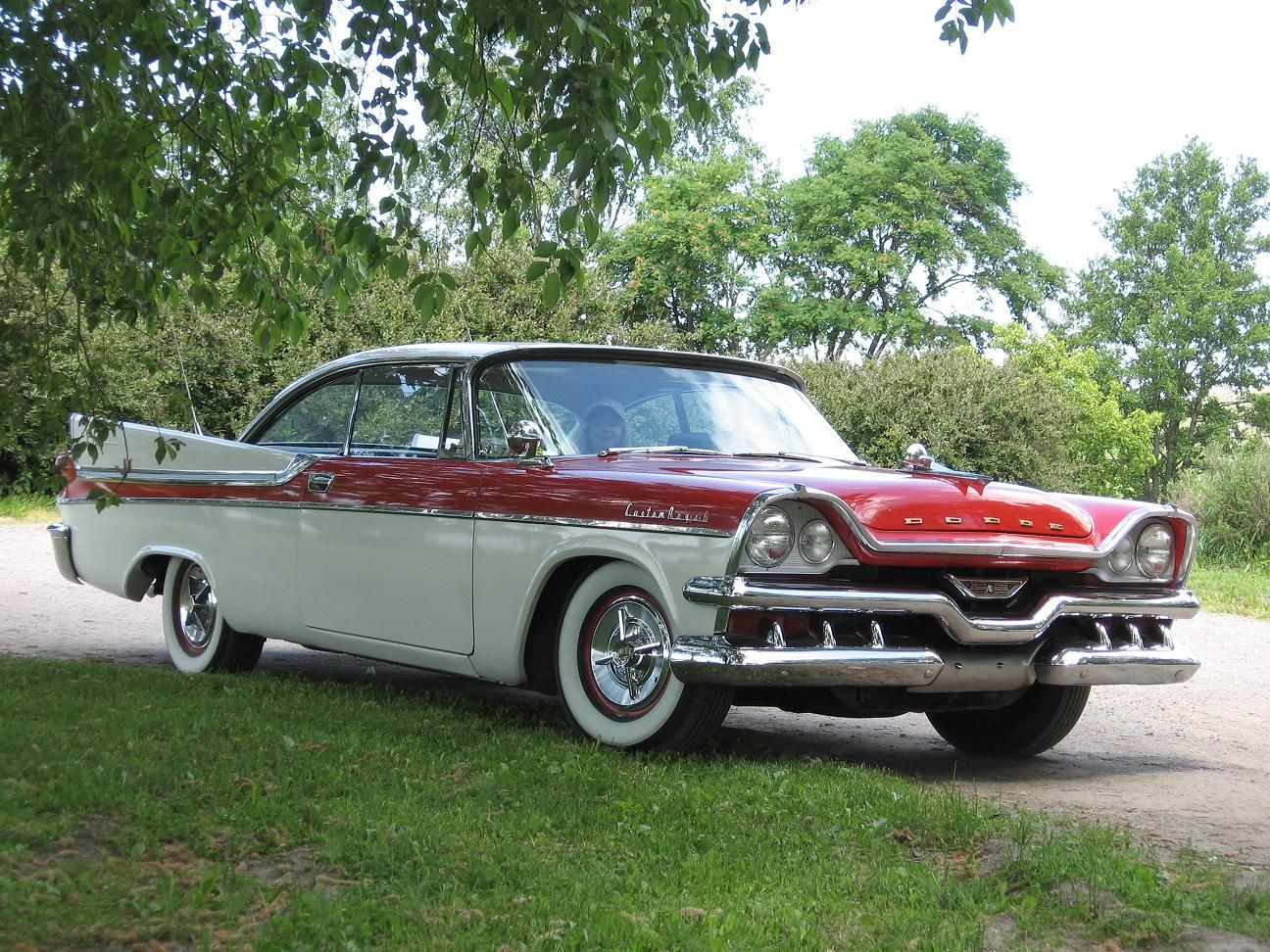 1957 dodge custom royal 2 d ht 325 cid v8 with twin carbs and automatic
