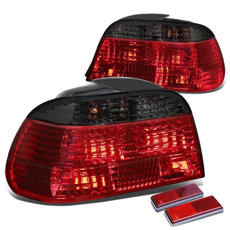 95 01 Bmw E38 750il 740il 740i Rear Brake Tail Lights Red Smoked Lens Tail Light Red Smoke Bmw E38