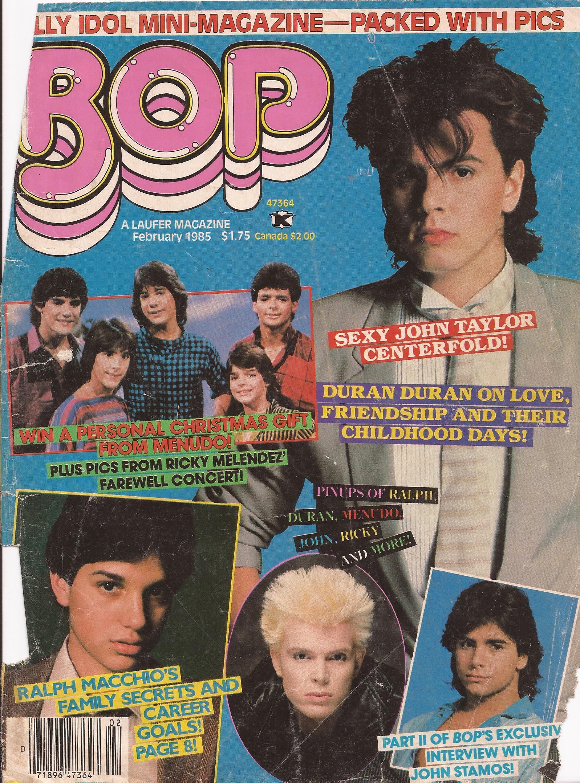 Bop magazine cover featuring John Taylor of Duran Duran