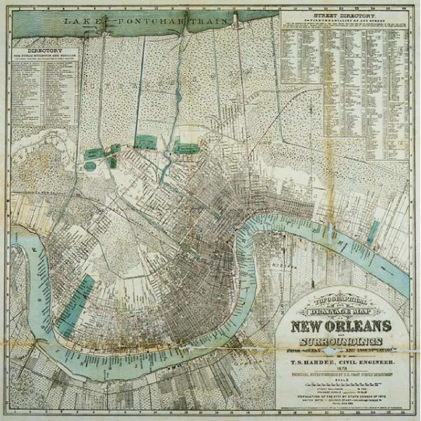 vintage new orleans map New Orleans Vendor Spotlight Ps Creative New Orleans Map Map vintage new orleans map