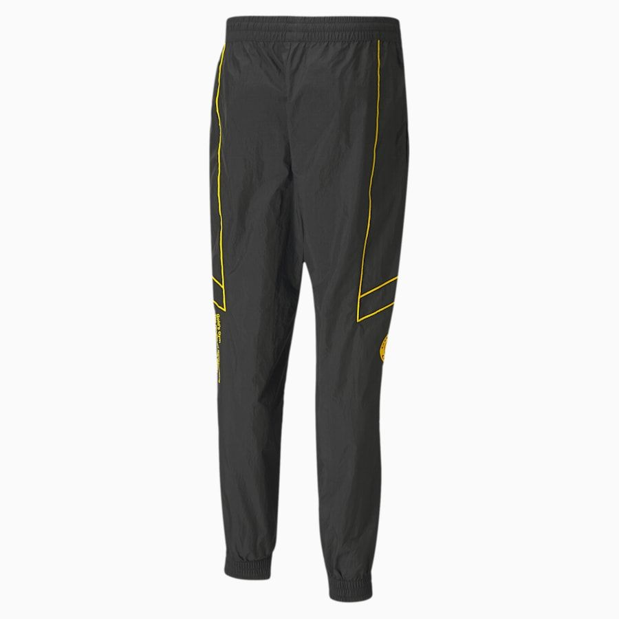 Photo of PUMA x GOLD'S GYM Woven windCELL Training Sweatpants | Puma Black-Dandelion | PUMA Training | PUMA United Kingdom