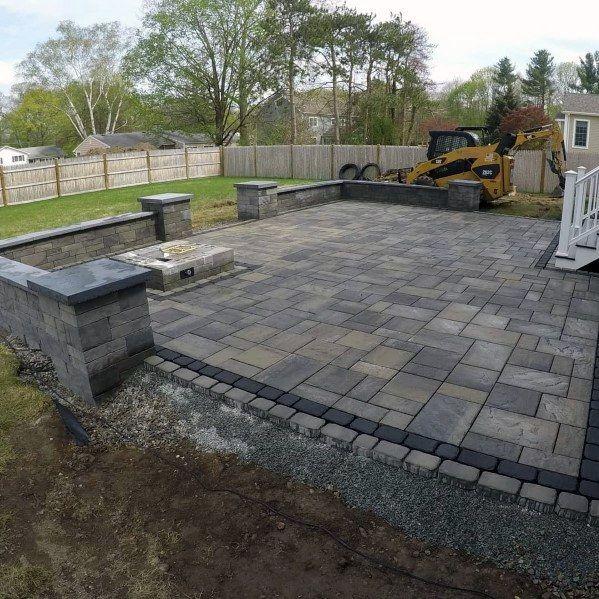 Top 60 Best Paver Patio Ideas - Backyard Dreamscape Designs #patiodesign