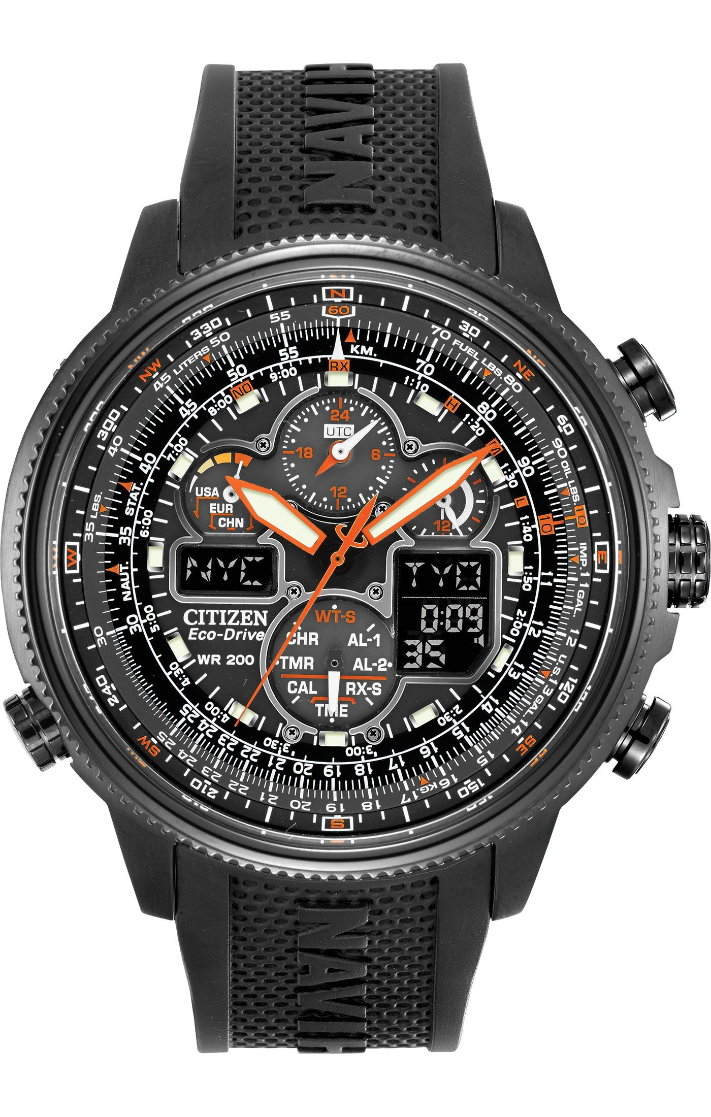 367bc0a3beb Citizen Citizen Eco-Drive Navihawk A-T JY8035-04E Hawk Series ...