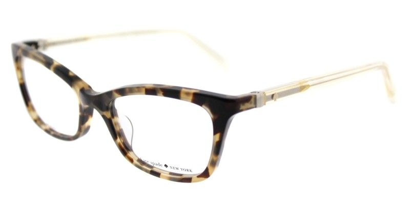 8f000dbee57f Stylish and Authentic Kate Spade KS Delacy RS3 52mm Havana Rose Eyeglasses