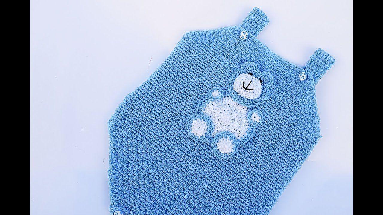 Pelele, body o enterizo a crochet muy facil y rapido para bebe ...